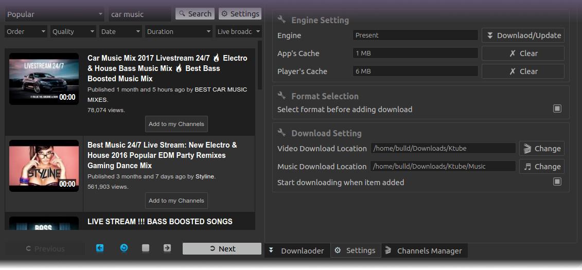 Ktube - Media Downloader tool For Linux Distributions